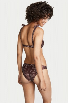Snowflake Dots Spaghetti Two Piece Sexy Bikini Swimsuits_4