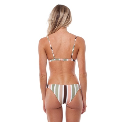 Colorful Stripes Triangle Pads Two Piece Sexy Bikini Sets_8