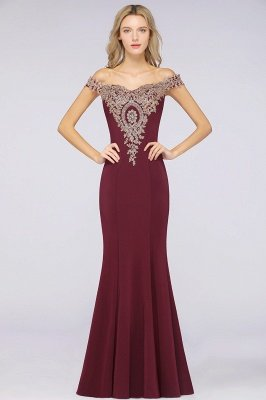 Simple Off the Shoulder Appliques Fitted Floor Length Evening Gown_33