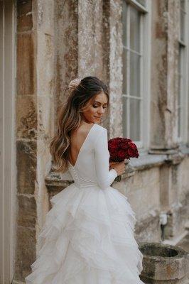 Glamorous Applique  Side slit Sexy Mermaid Wedding Dresses_4