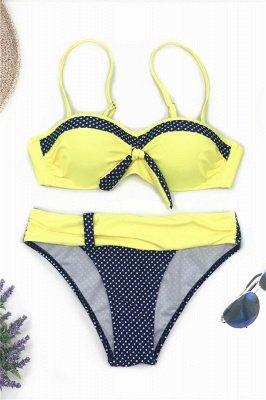 Yellow Sweetheart Spaghetti Two Piece Sexy Bikini Sets_6