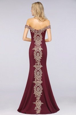Simple Off the Shoulder Appliques Fitted Floor Length Evening Gown_38