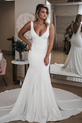 Glamorous Sweetheart Flower Lace Appliques Wedding Dresses_1