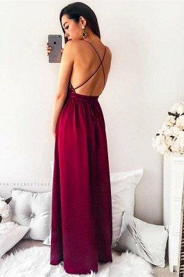 Simple Shining Sequins Applique Halter Prom Dresses | Side slit Mermaid Sleeveless Sexy Evening Dresses_3