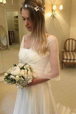 Glamorous Long Sleeves Applique Tiered Glamorous Wedding Dresses_3