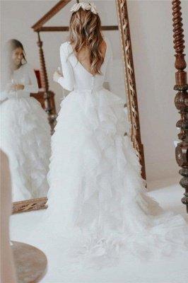 Glamorous Applique  Side slit Sexy Mermaid Wedding Dresses_5