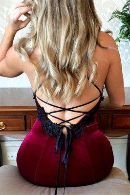 Sexy Lace Up Halter Applique Sleeveless Prom Dresses | Mermaid Cheap Popular Evening Dresses_3
