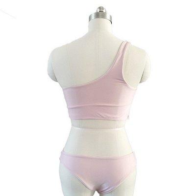 Casual One-shoulder Ribbon Bow Two Piece Sexy Bikini Sets_7