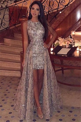 Gorgeous Straps Sleeveless Applique  Prom Dress