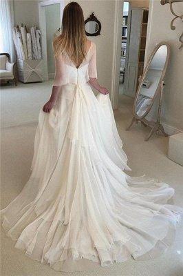 Glamorous Long Sleeves Applique Tiered Glamorous Wedding Dresses_2