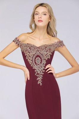 Simple Off the Shoulder Appliques Fitted Floor Length Evening Gown_36