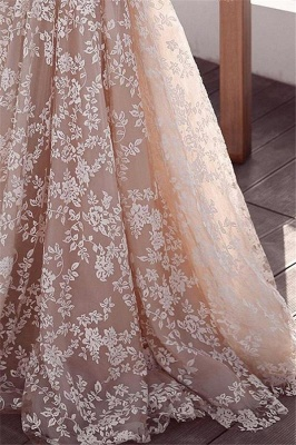 Beautiful Lace Applique Wedding Dresses | Long Sleeves Floral Bridal Gowns_3
