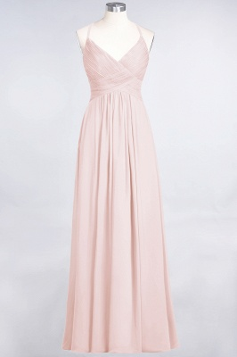A-Line Spaghetti-Straps V-Neck Sleeveless Floor-Length  Bridesmaid Dress with Ruffles_5