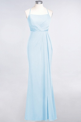 Mermaid Spaghetti-Straps Sleeveless Floor-Length spandex Lace Bridesmaid Dress with Ruffle_20