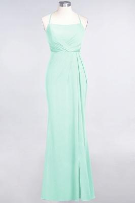Mermaid Spaghetti-Straps Sleeveless Floor-Length spandex Lace Bridesmaid Dress with Ruffle_30