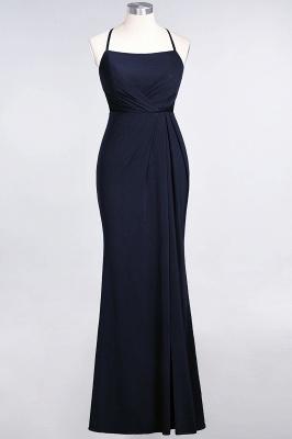 Mermaid Spaghetti-Straps Sleeveless Floor-Length spandex Lace Bridesmaid Dress with Ruffle_24