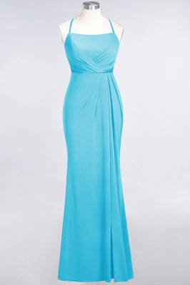 Mermaid Spaghetti-Straps Sleeveless Floor-Length spandex Lace Bridesmaid Dress with Ruffle_21