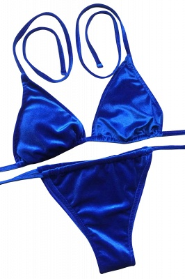 Triangle Pads Straps Sexy Bikini Swimsuits_3