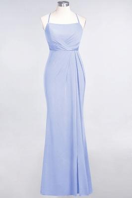 Mermaid Spaghetti-Straps Sleeveless Floor-Length spandex Lace Bridesmaid Dress with Ruffle_19