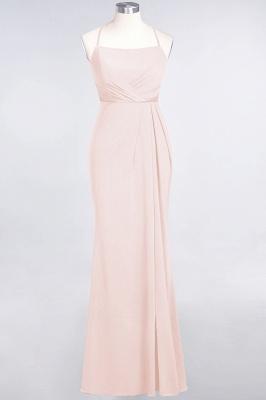 Mermaid Spaghetti-Straps Sleeveless Floor-Length spandex Lace Bridesmaid Dress with Ruffle_5
