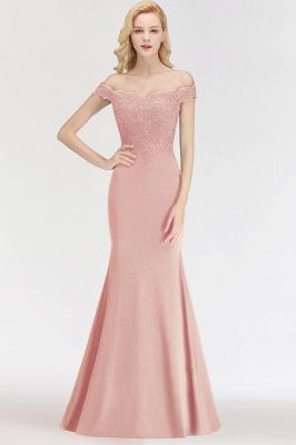 Green Elegant Lace Mermaid Off-The-Shoulder Bridesmaid Dresses_1