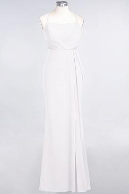Mermaid Spaghetti-Straps Sleeveless Floor-Length spandex Lace Bridesmaid Dress with Ruffle_1