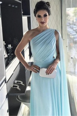 Newly One-Shoulder A-Line Prom Dresses_3