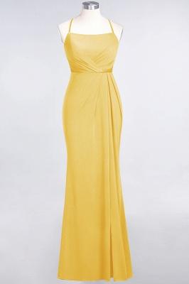 Mermaid Spaghetti-Straps Sleeveless Floor-Length spandex Lace Bridesmaid Dress with Ruffle_15