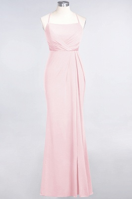Mermaid Spaghetti-Straps Sleeveless Floor-Length spandex Lace Bridesmaid Dress with Ruffle_3
