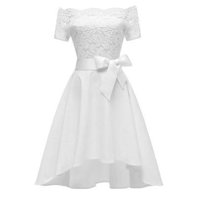 Cocktail Dresses Simple A-Line lace Elegant Summer Lace Dress-FS4035_1