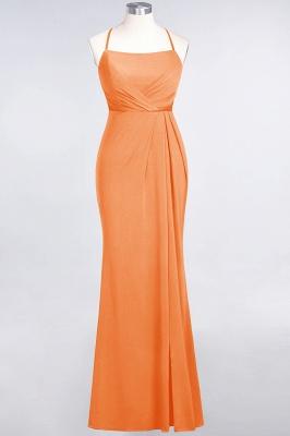Mermaid Spaghetti-Straps Sleeveless Floor-Length spandex Lace Bridesmaid Dress with Ruffle_14