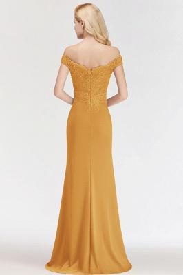 Green Elegant Lace Mermaid Off-The-Shoulder Bridesmaid Dresses_4