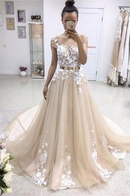 Gorgeous Jewel Appliques  A-Line Prom Dresses_1