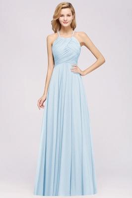A-Line  Halter Ruffles Floor-Length Bridesmaid Dress_22