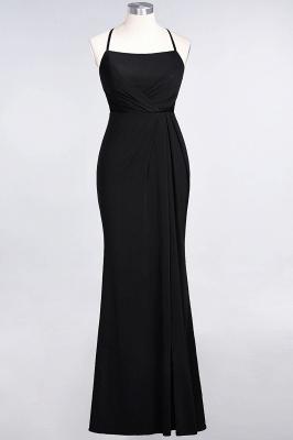 Mermaid Spaghetti-Straps Sleeveless Floor-Length spandex Lace Bridesmaid Dress with Ruffle_25