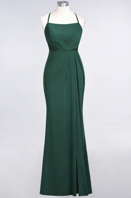 Mermaid Spaghetti-Straps Sleeveless Floor-Length spandex Lace Bridesmaid Dress with Ruffle_27