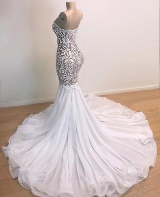 Gorgeous Applique Spaghetti-Straps Sexy Mermaid Prom Dress_2