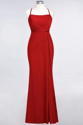 Mermaid Spaghetti-Straps Sleeveless Floor-Length spandex Lace Bridesmaid Dress with Ruffle_7