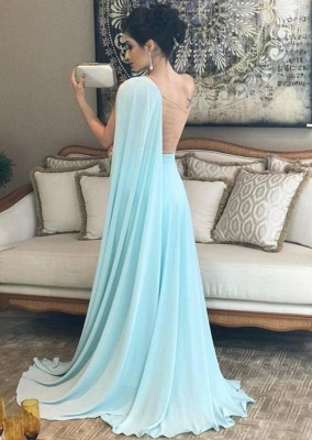 Newly One-Shoulder A-Line Prom Dresses_2