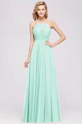 A-Line  Halter Ruffles Floor-Length Bridesmaid Dress_34