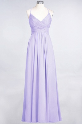 A-Line Spaghetti-Straps V-Neck Sleeveless Floor-Length  Bridesmaid Dress with Ruffles_20