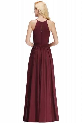 Chiffon A-Line Burgundy Simple Cheap Bridesmaid Dress_2