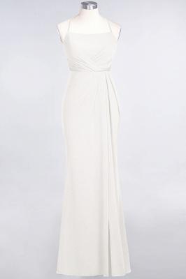 Mermaid Spaghetti-Straps Sleeveless Floor-Length spandex Lace Bridesmaid Dress with Ruffle_2