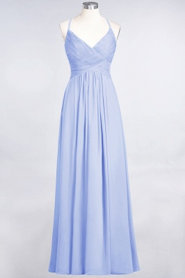 A-Line Spaghetti-Straps V-Neck Sleeveless Floor-Length  Bridesmaid Dress with Ruffles_21