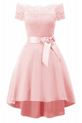 Cocktail Dresses Simple A-Line lace Elegant Summer Lace Dress-FS4035_2