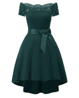 Cocktail Dresses Simple A-Line lace Elegant Summer Lace Dress-FS4035_7