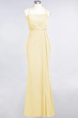 Mermaid Spaghetti-Straps Sleeveless Floor-Length spandex Lace Bridesmaid Dress with Ruffle_16