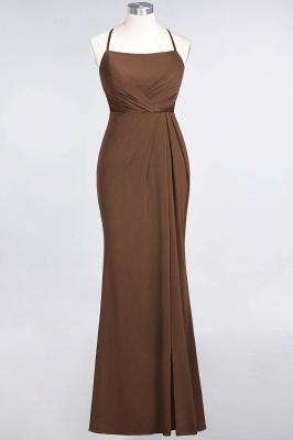 Mermaid Spaghetti-Straps Sleeveless Floor-Length spandex Lace Bridesmaid Dress with Ruffle_11
