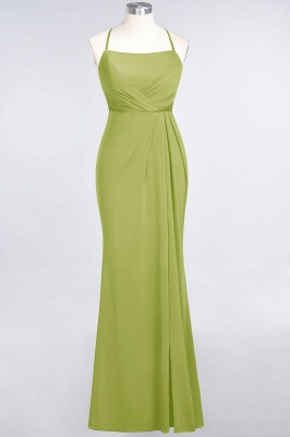Mermaid Spaghetti-Straps Sleeveless Floor-Length spandex Lace Bridesmaid Dress with Ruffle_29