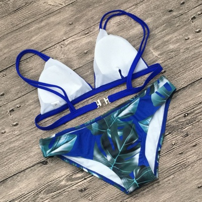 Colorful Prints Triangle Pads Bikini Sets_11